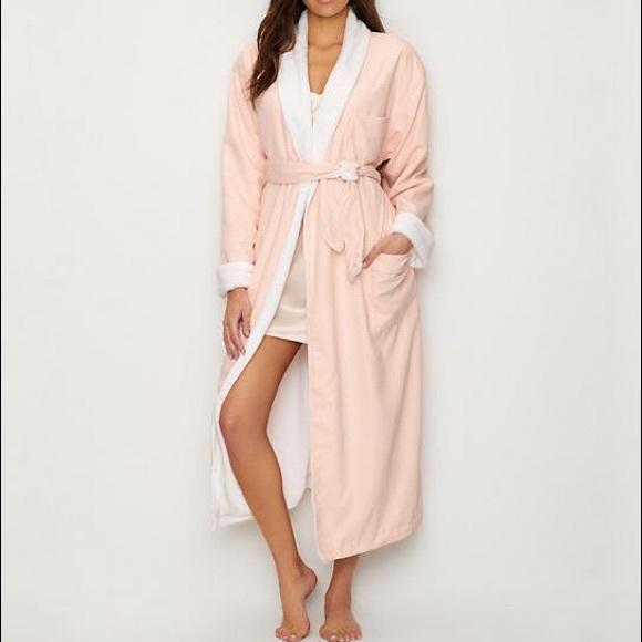 8b4c1b9b14 Monarch Cypress Microfiber Plush Robe Light Pink L.  M 5b89cbc1f30369be886aab5a